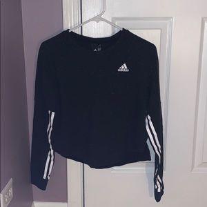 Adidas 3 stripe crop sweatshirt 💫
